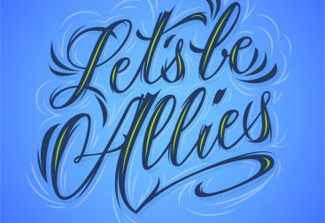 Lettering let's be Allies